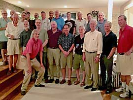 Gathering at Bob Peck's house in remembrance of Bill Hall, 09/10/16.