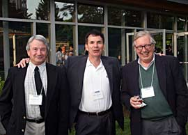 Bill McKinley, Barry Shannon, and Chris Fleming at 2010 reunion.
