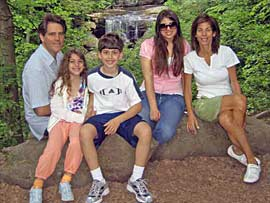 Andy Simon and family, ca. 2008.