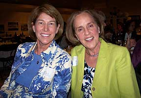 Martha Heyburn and Anne Saltman at 2010 reunion dinner.