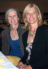 Ellen Hughes and Deborah Kalas at 2010 reunion dinner.
