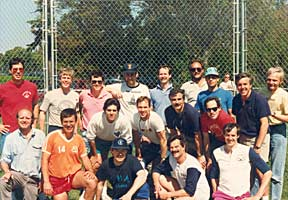 CHA Class of 1970 alumni softball team in 1990.