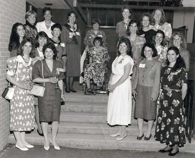 Springside Class of 1970 reunion in 1995.
